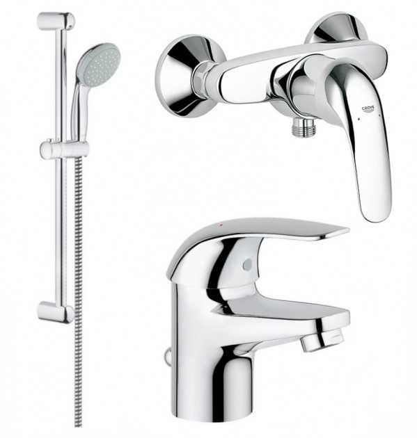 Фото - Grohe 123232S EUROECO bath bundle