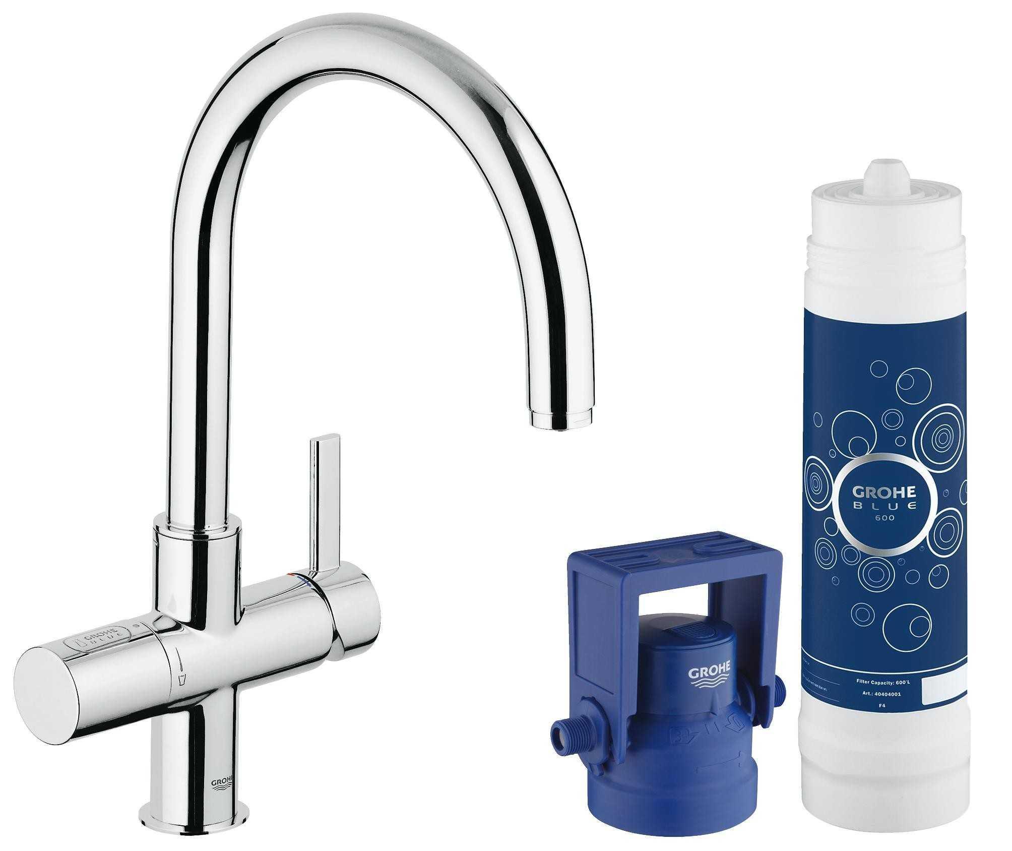 Фото - Grohe 33249001 GROHE Blue Pure OHM sink C-spout