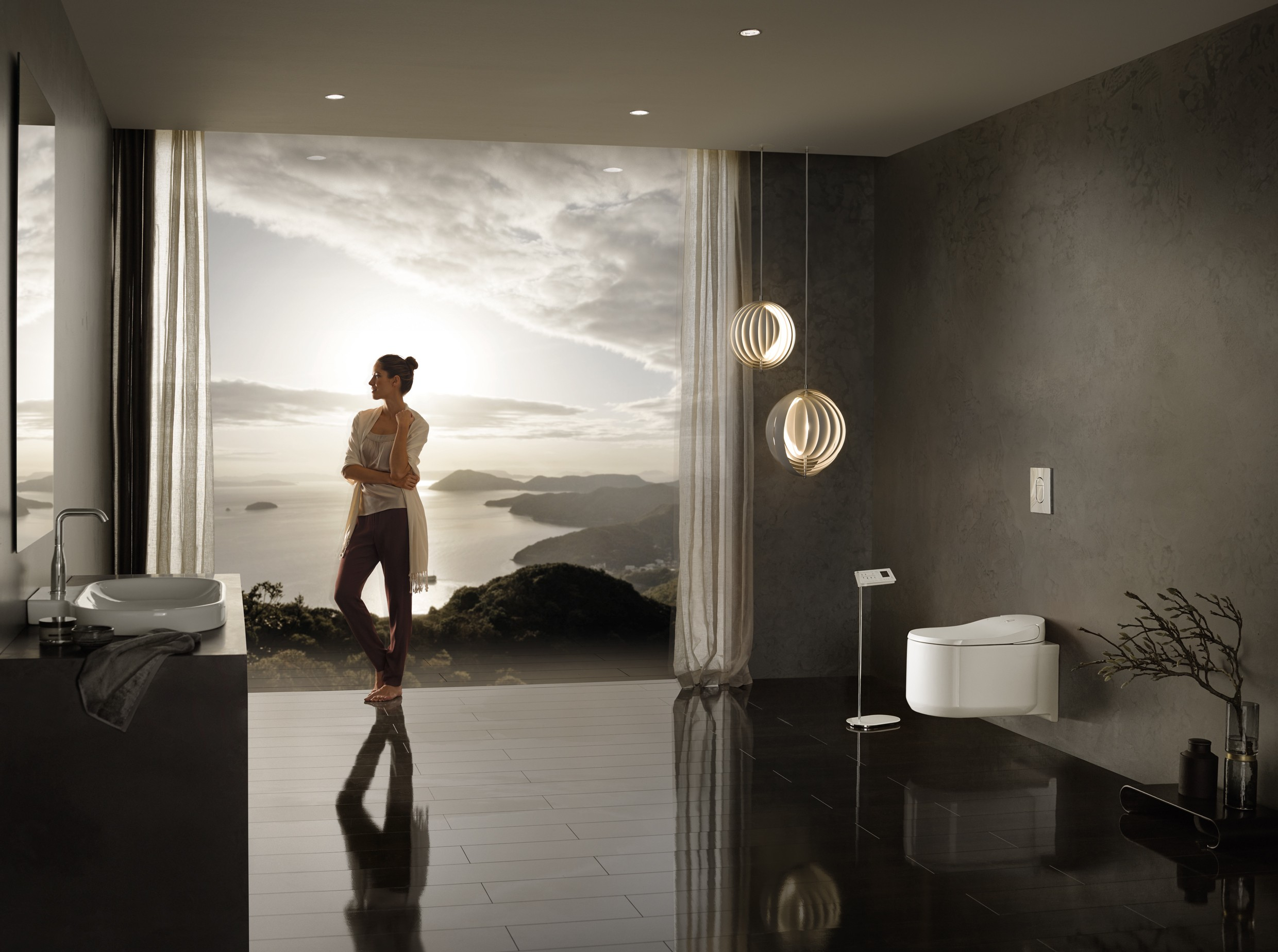 Фото - Grohe 39354SH0 Sensia Arena shower toilet wall-hung