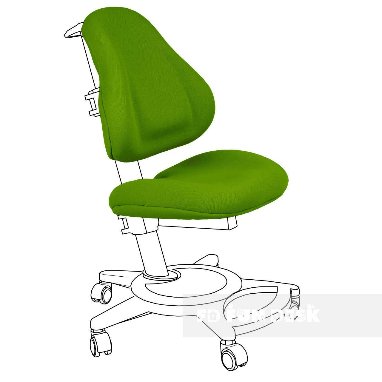 Фото - FunDesk Bravo Chair cover Green
