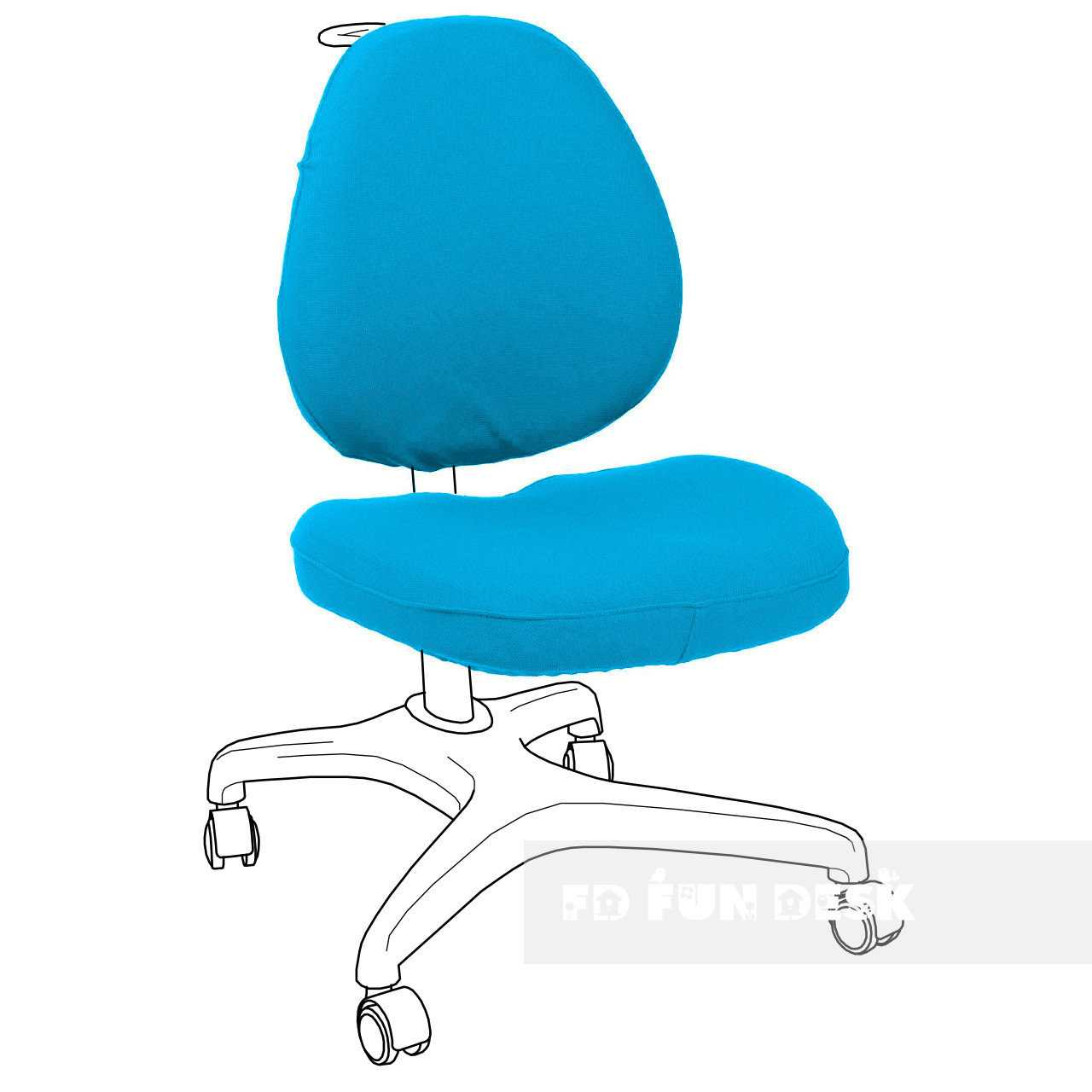 Фото - FunDesk Bello I Chair cover Blue